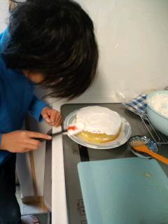 """X'masは『手作り二段ケーキ☆』で!(b^ー°)"""